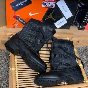 KEDS-women's plaid faux fur mid calf lace up boots